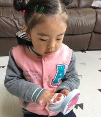 딸과 아들이 좋아하는 핑크퐁  여름필수품 선쿠션 썬크림